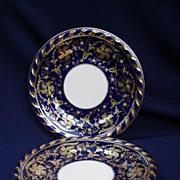 "12 Spectacular Cauldon Ltd., England, Cobalt and Gold 10"" Plates"