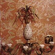 SALE Vintage Florentine Wall Scone, Pineapple Motif, Five Candleholders