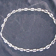 Vintage Sterling Silver Necklace with Hearts