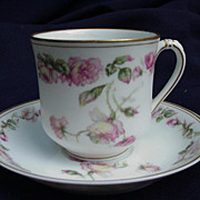 """Haviland & Co. """"The Amstel"""" Demitasse Cup and Saucer"""