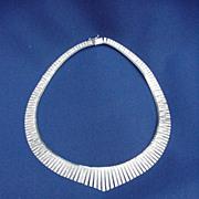 Striking Vermeil Sterling Silver .925 Collar Necklace