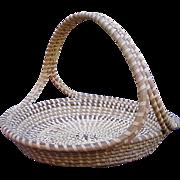 Large Vintage Sweet Grass Basket