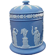SALE Wedgwood Blue Jasperware Covered Jar