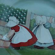 Royal Bayreuth Sunbonnet Babies Plate
