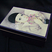 SOLD Vintage Schmid Music/Jewelry Box, Clown Image