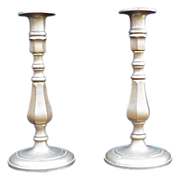 Pair of Solid  Brass Candlesticks