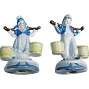 SALE Pair of Occupied Japan Figurines, Dutch Boy and Girl
