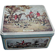 Carr's English Biscuit Tin with Hunt Scene Lithographs