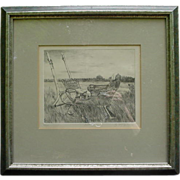 "SALE Signed Original  Etching by Sheila McGinnis, ""Quebec"""