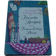 1954 Second Volume Ford Treasury of Favorite Recipes from Famous Eating Places