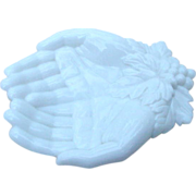 Westmoreland Milk Glass Hands Dish