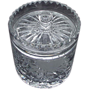 Crystal Bisquit Jar with Cut and Frosted Flowers