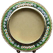 Micro-Mosaic Frame, Goldtone Back, Stamped Italy