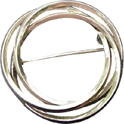 SALE 12 kt. Gold-Filled Circle Pin, Three Circles Entwined