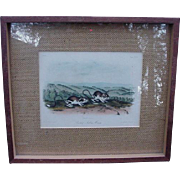 Hand-Colored John W. Audubon Lithograph of Pouched Jerboa Mouse