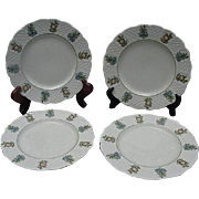 Four Royal Cauldon, England, Dessert/Salad Plates, June Garden