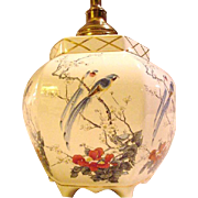 Vintage Ginger Jar Style Lamp with Exotic Birds