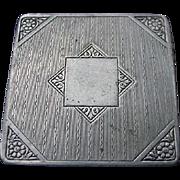 Pompeian Beauty Powder Vanity, Silver-tone Compact