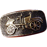 Vintage Model-T Cuff Links, Gold-Tone, Black Background