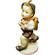 "Hummel ""School Boy"" Figure of Little Boy with Satchel, W. Germany"