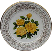 Rose of the Year 1972 Gorham China Plate, Golden Gate