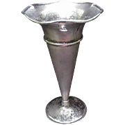 Sterling Silver Vase with Flaring Rim