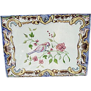 Rustica Portugal Tile, Bird on Flowering Branch