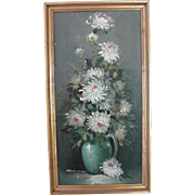 Floral Oil on Canvas, Signed Robert Cox