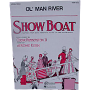 Vintage Sheet Music from Showboat for Ol' Man River