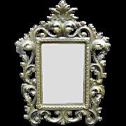Ornate Dresser Mirror, Brass Frame