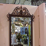 SALE Ornate Vintage Chippendale Style Mirror with Beveled Glass