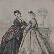 19th C. Fashion Print from Paris Fashion Journal Le Bon Ton