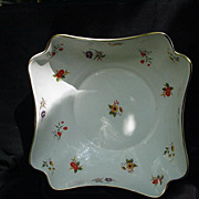 """Enoch Wedgwood, Tunstall, England """"Lowestoft"""" Centerpiece Bowl, Floral Blossoms"""