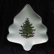 Original  Christmas Tree Plate, Cuthbertson, England