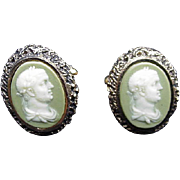 SALE Dante Incolay Vintage Cuff Links, Caesar's Head