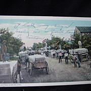 Cotton Ginning Day Postcard, 1936, Georgia