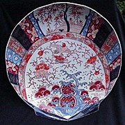 Stunning Shell-Shaped Large Imari Plate, Reds, Blues, Golds