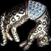 Leopard Pin, Pave Rhinestone Saddle, Tail Moves
