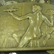 SALE 1920s Bronze Plaque, Raoul Lamourdedieu, French Sculptor
