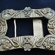 Art Nouveau Brass Belt Buckle