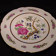 Pre-WWII Selb, Bavaria, Black Knight Plate, C.M. Hutschenreuther Porcelain Factory, Floral ...