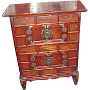 REDUCED Fabulous Hand-Made, Antique Korean Chest, Brass Hardware