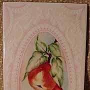 Vintage Hand-Painted Tile w Pears