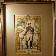 SALE Perveaux Hand-Colored Print, Napoleon I