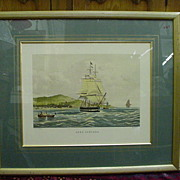 SALE Fine Arts Ship Print, Lord Lowther, Engraved by Duncan, Painted by Huggins