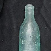 SALE PENDING Wishbone Brand Beverage Bottle w Embossed Letters, Wishbone