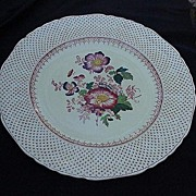 Pair of Mason's Patent Ironstone China Plates, Paynsley Pattern, Pink Flowers
