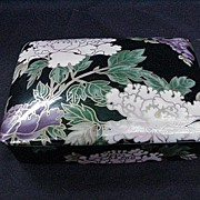 Fitz and Floyd 1975 Cloisonne Peony Card Box