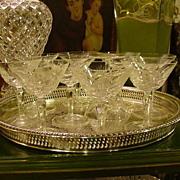 10 Cut Crystal Sherberts, Cross-Hatching, Fan Cuts