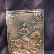 SALE Copper Plate of St. George Slaying the Dragon